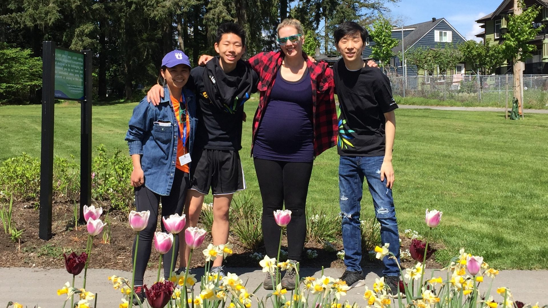 Planting Party With ParkSparks at the Coquitlam 'Good Neighbour Park'